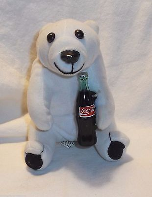 "Coca Cola white bear plastic Coke bottle 5 1/2"" tall 1993"