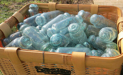 "Japanese Glass FLOATS 5-6"" ROLLING PIN Lot-50 Ocean Fishing Decor ROLLERS Vntg"