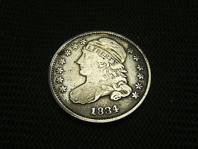 1834 Capped Bust Dime silver each additional coin ships free
