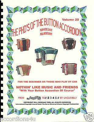 "Button Accordion Book ,""nothin' Like Music & Friends"" Easy Play By Numbers"