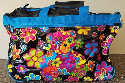 Vintage Lisa Frank Luggage Rolling Duffle Gym Bag Wheels Carry Case Travel Bear
