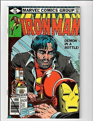 Iron Man #128 - Demon in a Bottle Story Alcoholism cover - 9.2/9.4