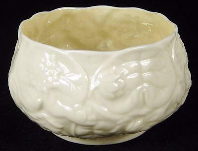 Belleek Embossed Floral Sugar Bowl Green 5th Mark