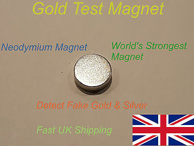 Large Gold Silver Neodymium Test Magnet  Testing Gold Silver Coins - Fast UK P&P