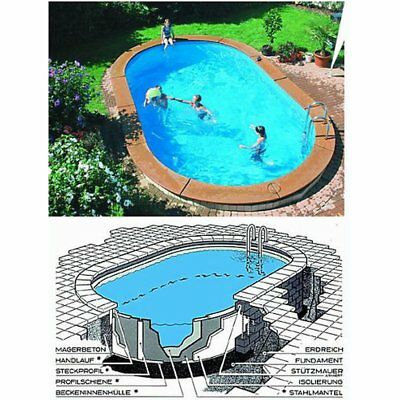 pool set rechteck becken 3x6 x1 50m pool 0 8 mm folie styropor systemsteine p40 eur. Black Bedroom Furniture Sets. Home Design Ideas