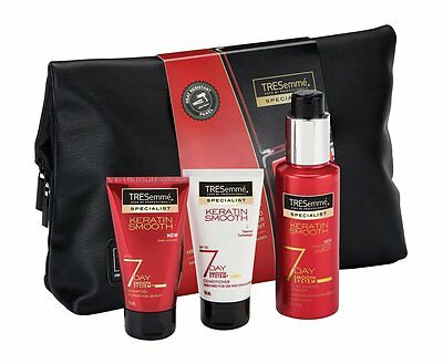 Tresemme 7 DAY SMOOTH KERATIN Gift Set + Styling Bag (heat resistant panel)