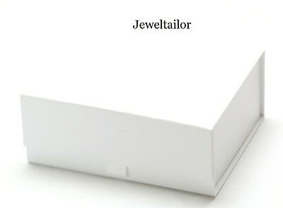 1-10 LUXURIOUS SMALL WHITE RIBBON TAB QUALITY GIFT BOXES 15cm RANGE OF GIFTS UK