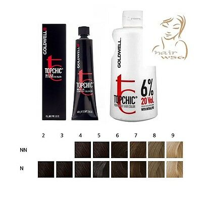 GOLDWELL TOPCHIC COLORORAZIONE COLORE NATURALE 60ML/Develope Lotion 20vol.1000ml