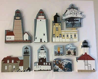 cats meow village collection of lighthouses