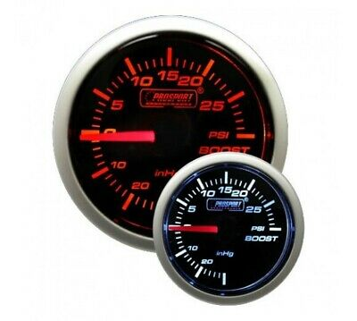 ProSport 52mm Electrical 'Performance' Boost Gauge - Amber/White