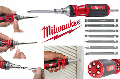 Milwaukee 10-In-1 Multi-Bit Screwdriver Ratchet For Driving Speed and Control