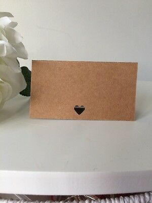 25 Blank Hand Made Kraft Wedding Place Cards