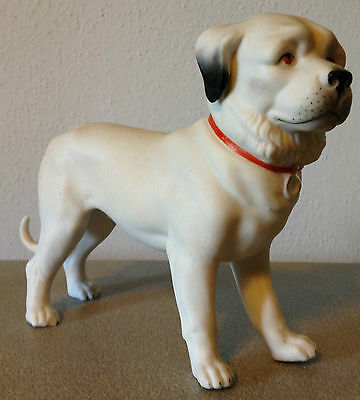 Vintage Germany Bisque Style Finely Victorian Detailed Realistic Mastiff Dog!