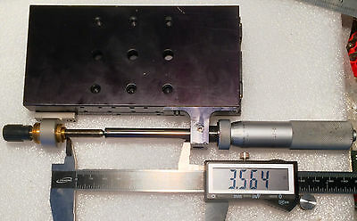 "Newport 436 Precision Linear Translation Stage w 3.5"" Travel w Mitutoyo 2"" & 2nd"