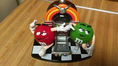 M&M's Red and Green Candy Jukebox Dispenser,vg!