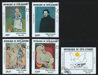 Ivory Coast Sc#646-50 MNH 1982 Picasso Paintings