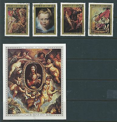 Ivory Coast Sc#451-4 MNH VF S/S 1978 Paintings by Peter Paul Rubens
