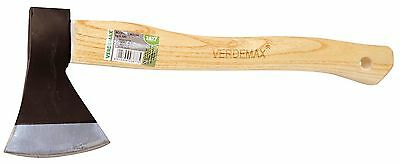 Axe, Hatchet, Forged Steel 500g Head, Splitting Maul,Wood Handle, Made in Italy
