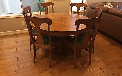 Vintage Original Brumby Chair Co Table And Chair Dining Set Antique Beautiful