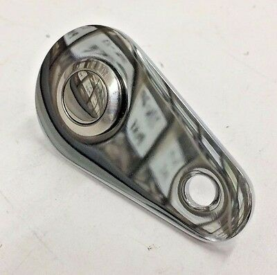 SMOOTH STAINLESS PUSH BUTTON AND MOUNTING PLATE cafe chopper bobber universal