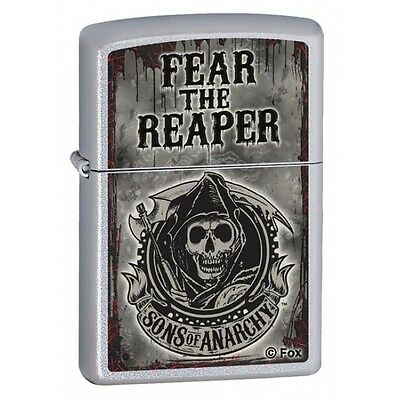 Sons Of Anarchy Fear The Reaper Biker Gang Tv Show Fox Zippo Lighter Mint In Box