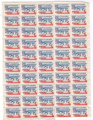 Canada STAMPS 1967  SC# 469 EXPO '67 , FULL SHEET OF 50 OF 5c, MNH
