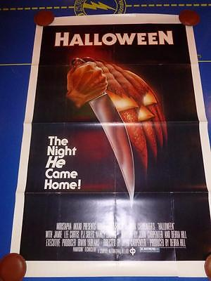 Halloween Orig. S/S Fold/Rolled 1 Sheet movie poster 27x41