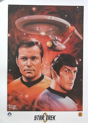 DYNAMIC FORCES CLASSIC STAR TREK LITHOGRAPH By BRIAN ROOD ORIGINAL SERIES L/E