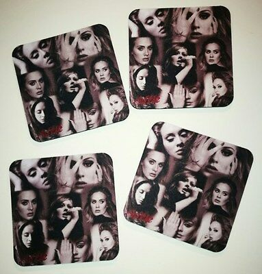 ADELE 4 x Collage Photo Drink Coasters