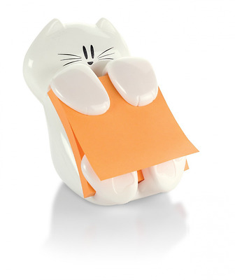 Post-it Pop-up Notes Dispenser for 3x3 Notes, Cat Shape, White, (CAT-330-C)
