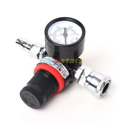 Auto Spray Gun Paint Air Pressure Regulator Gauge Spray Accessories 0-0.10Mpa