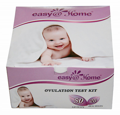 Easy@Home branded 50 Ovulation (LH) and 20 Pregnancy (HCG) Test Strips Kit - the