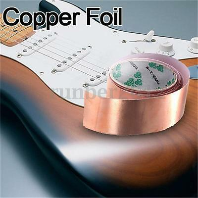 Pro 3 FEET X 50mm Copper Foil Tape EMI Shielding for Guitars Pedals 3 ft X 2""