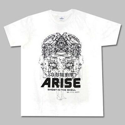 GHOST IN THE SHELL ARISE Graphic T shirts Motoko Kusanagi White color L size