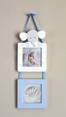 Baby Boy Print Hand/Feet Photo Picture Frame Gallery Newborn Baby Present Gift