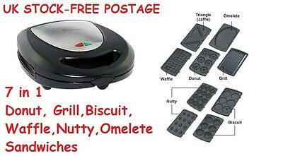 Waffle Donuts Sandwich Omelette Biscuit Grill 7in1 Maker Kids Birthday Gifts