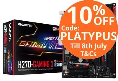 Gigabyte H270 Gaming 3 RGB LED USB3.1 Type-C HDMI DVI M.2 LGA1151 Motherboard
