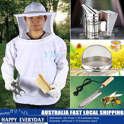 Beekeeping Veil Suit /Electric Knife /Honey Strainer/Hive Smoker Equipment Kit