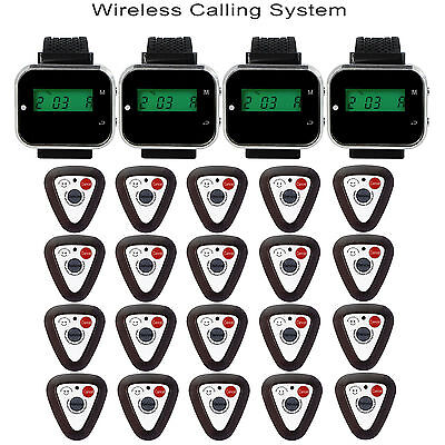 Restaurant Waiter Paging System Watch Receiver Guest Calling Button Pager Beeper