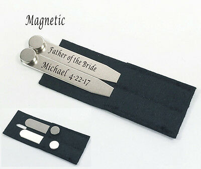 Set of One Groomsman gifts-Personalized,Engraved,Custom, Engraving Collar stays