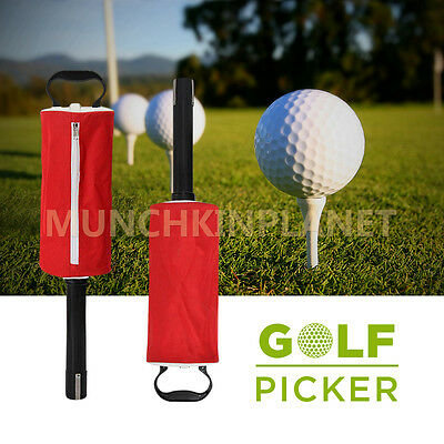 New Sale Golf Ball Picker Putter Holder Retriever Storage Carry Bag 50 balls