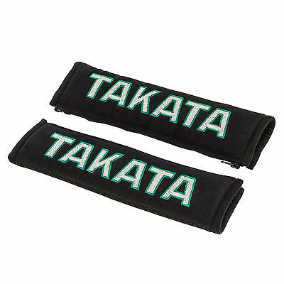 TAKATA Genuine - Seat Belt And Harness covers - x2 - Universal - Limited - Black