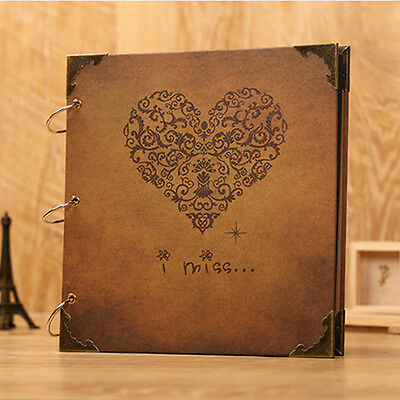 Retro Photo Album DIY Scrapbook Diary Gift Mommy Wedding Memory Love Anniversary
