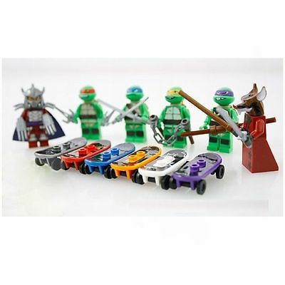 6 X Minifigures Teenage Mutant Ninjago Ninja Turtles Donztello Blocks Toys Z200