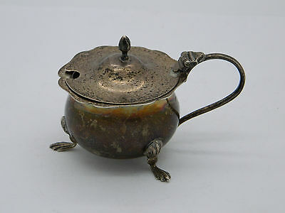 George V Solid Silver Nathan & Hayes Mustard Pot 1915 Chester 45g