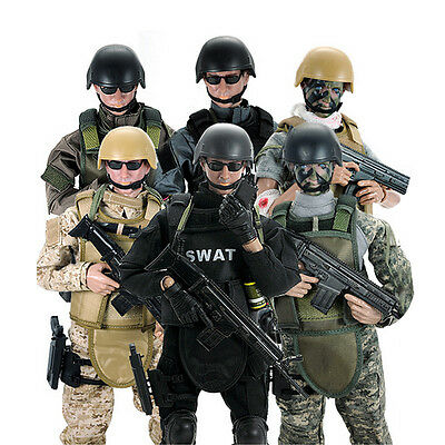 """1/6 Scale Military Army Combat SWAT Soldier 12"""" Action Body Police Figure Gift"""