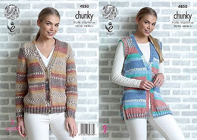 KINGCOLE 4850 Adult Chunky KNITTING PATTERN 28-46IN -not the finished garments