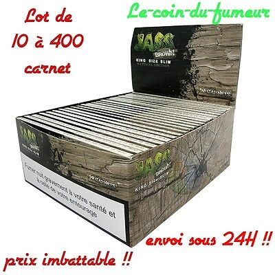 "Lot De 1 à 400 Carnets De Feuilles à Rouler JASS Slim ""Brown"", Promotion !!"