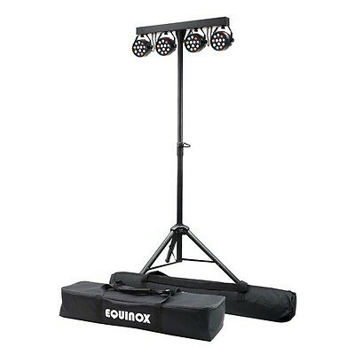 Equinox MicroPar Bar DMX LED Par Stage Lighting System with Stand inc Warranty