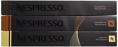 30 Capsules Nespresso Coffee - Flavour Pack (Caramel, Chocolate and Vanilla)